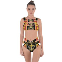 Logo Of Imperial Iranian Ministry Of War Bandaged Up Bikini Set