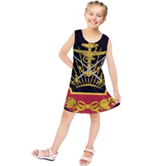 Logo Of Imperial Iranian Ministry Of War Kids  Tunic Dress