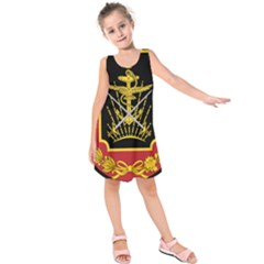 Logo Of Imperial Iranian Ministry Of War Kids  Sleeveless Dress