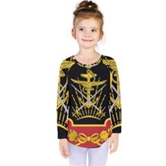 Logo Of Imperial Iranian Ministry Of War Kids  Long Sleeve Tee