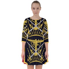 Logo Of Imperial Iranian Ministry Of War Smock Dress