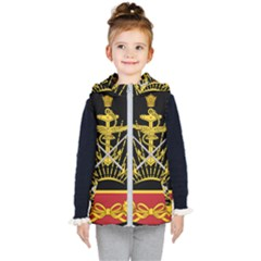Logo Of Imperial Iranian Ministry Of War Kid s Hooded Puffer Vest