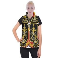 Logo Of Imperial Iranian Ministry Of War Women s Button Up Vest