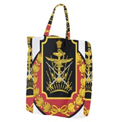 Logo Of Imperial Iranian Ministry Of War Giant Grocery Zipper Tote