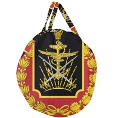 Logo Of Imperial Iranian Ministry Of War Giant Round Zipper Tote
