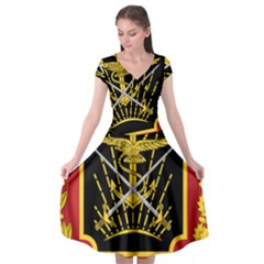 Logo Of Imperial Iranian Ministry Of War Cap Sleeve Wrap Front Dress