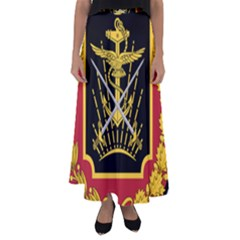 Logo Of Imperial Iranian Ministry Of War Flared Maxi Skirt