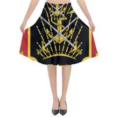 Logo Of Imperial Iranian Ministry Of War Flared Midi Skirt