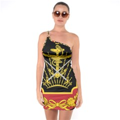 Logo Of Imperial Iranian Ministry Of War One Soulder Bodycon Dress