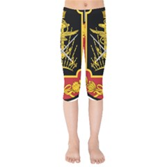 Logo Of Imperial Iranian Ministry Of War Kids  Capri Leggings