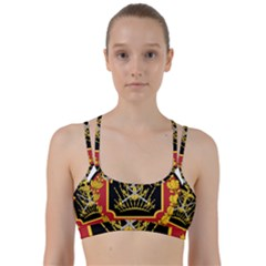 Logo Of Imperial Iranian Ministry Of War Line Them Up Sports Bra