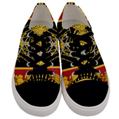 Logo Of Imperial Iranian Ministry Of War Men s Low Top Canvas Sneakers