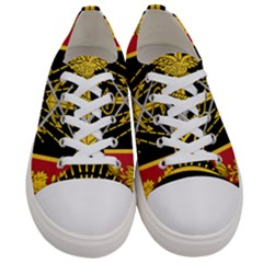 Logo Of Imperial Iranian Ministry Of War Women s Low Top Canvas Sneakers