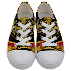Logo Of Imperial Iranian Ministry Of War Kids  Low Top Canvas Sneakers