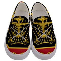 Logo Of Imperial Iranian Ministry Of War Men s Canvas Slip Ons