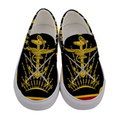 Logo Of Imperial Iranian Ministry Of War Women s Canvas Slip Ons