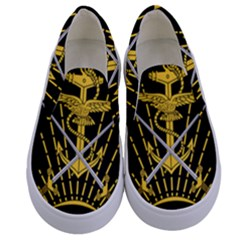 Logo Of Imperial Iranian Ministry Of War Kids  Canvas Slip Ons