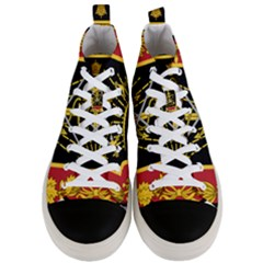 Logo Of Imperial Iranian Ministry Of War Men s Mid Top Canvas Sneakers