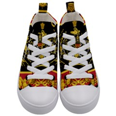Logo Of Imperial Iranian Ministry Of War Kid s Mid Top Canvas Sneakers