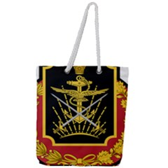 Logo Of Imperial Iranian Ministry Of War Full Print Rope Handle Tote (large)