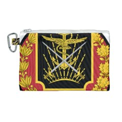 Logo Of Imperial Iranian Ministry Of War Canvas Cosmetic Bag (large)