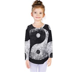 Grunge Yin Yang Kids  Long Sleeve Tee