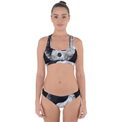 Grunge Yin Yang Cross Back Hipster Bikini Set