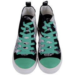 Grunge Yin Yang Women s Mid Top Canvas Sneakers