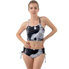 Grunge Yin Yang Mini Tank Bikini Set