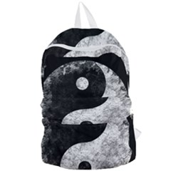 Grunge Yin Yang Foldable Lightweight Backpack