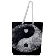 Grunge Yin Yang Full Print Rope Handle Tote (large)