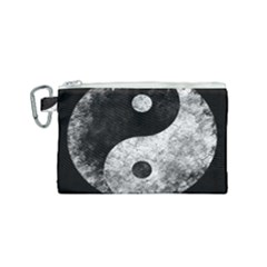 Grunge Yin Yang Canvas Cosmetic Bag (small)