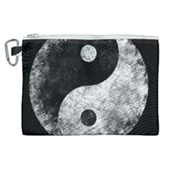 Grunge Yin Yang Canvas Cosmetic Bag (xl)
