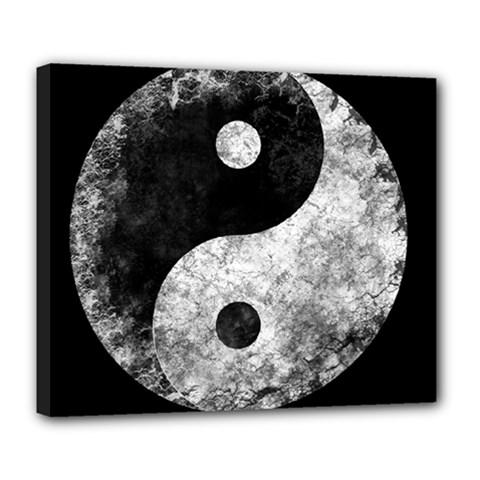 Grunge Yin Yang Deluxe Canvas 24  X 20