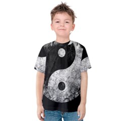 Grunge Yin Yang Kids  Cotton Tee