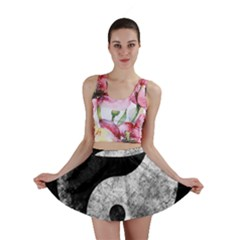 Grunge Yin Yang Mini Skirt