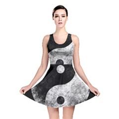 Grunge Yin Yang Reversible Skater Dress