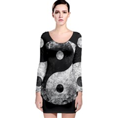 Grunge Yin Yang Long Sleeve Bodycon Dress
