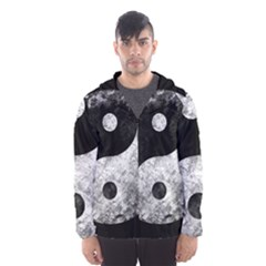 Grunge Yin Yang Hooded Wind Breaker (men)