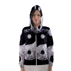 Grunge Yin Yang Hooded Wind Breaker (women)
