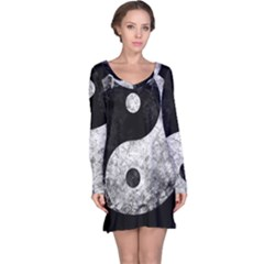 Grunge Yin Yang Long Sleeve Nightdress