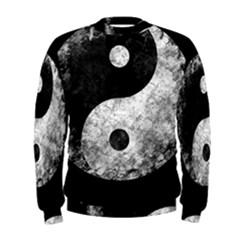 Grunge Yin Yang Men s Sweatshirt