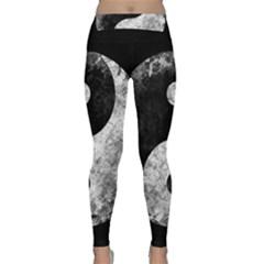 Grunge Yin Yang Classic Yoga Leggings