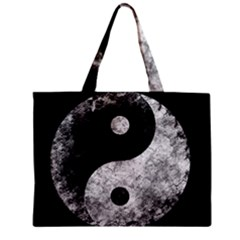 Grunge Yin Yang Zipper Mini Tote Bag