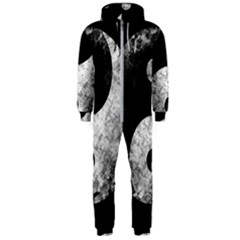 Grunge Yin Yang Hooded Jumpsuit (men)
