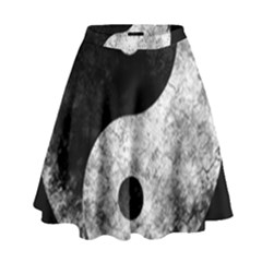 Grunge Yin Yang High Waist Skirt