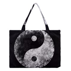 Grunge Yin Yang Medium Tote Bag