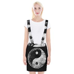 Grunge Yin Yang Braces Suspender Skirt
