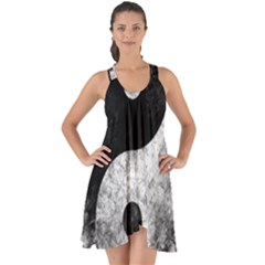 Grunge Yin Yang Show Some Back Chiffon Dress