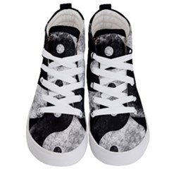 Grunge Yin Yang Kid s Hi Top Skate Sneakers